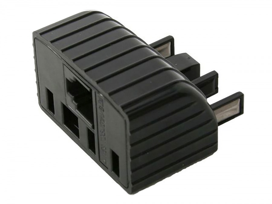 Telephone Double Adaptor (605 Plug to RJ12 & 610 Sockets) (Photo )