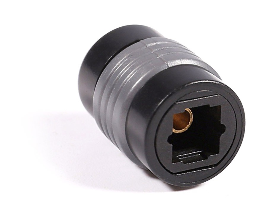 TOSLINK to TOSLINK Optical Adaptor (TOSLINK Coupler) (Photo )