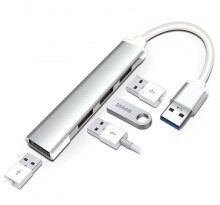 Ultra-Slim 4-Port Super-Speed USB Hub (1x USB 3.0 + 3x USB 2.0) (Thumbnail )