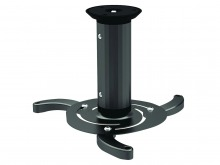 Universal 3-Point LCD & DLP Projector Ceiling Mount Bracket (Black)