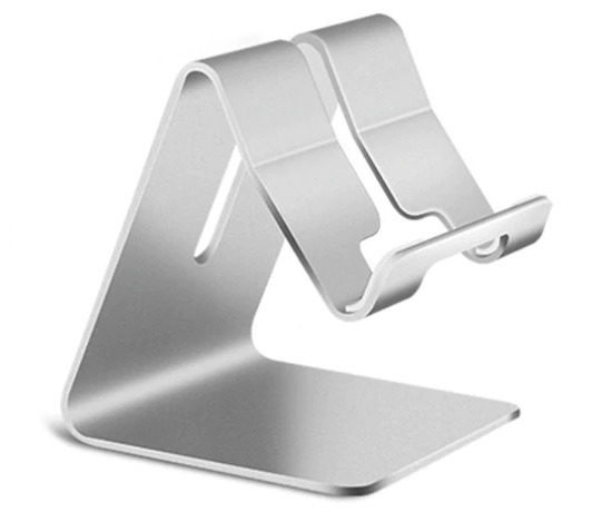 Universal Aluminium Phone Stand - Silver (for Phones & Small Tablets) (Photo )