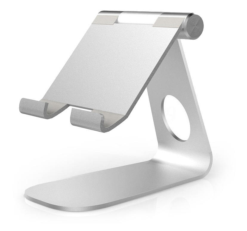 Universal Aluminium Tablet Stand (for Tablets & Large Phones) (Photo )