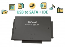 "USB 3.0 to SATA & IDE HDD Adapter Kit (Supports 2.5"" & 3.5"" Drives) (Thumbnail )"