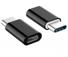 USB-C to Micro-USB Adapter - Male to Female (Black)