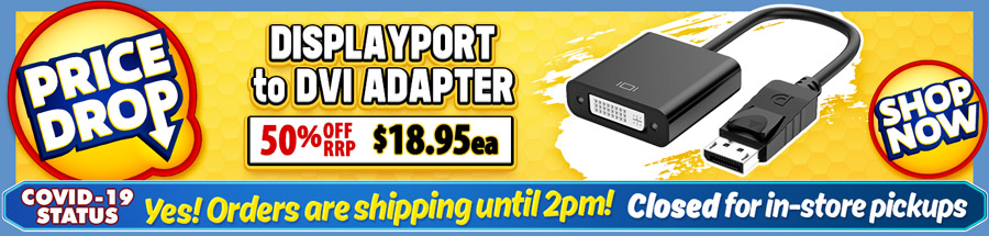 Cable Chick's DROPPED THE PRICE on this great DP to DVI Adapter Cable!