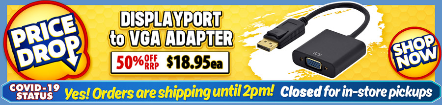 Cable Chick's DROPPED THE PRICE on this great DP to VGA Adapter Cable!
