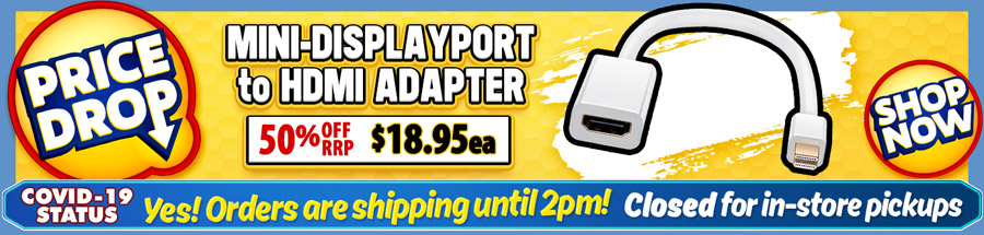 Cable Chick's DROPPED THE PRICE on this great Mini-DP to HDMI Adapter Cable!