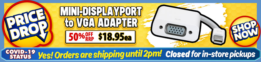 Cable Chick's DROPPED THE PRICE on this great Mini-DP to VGA Adapter Cable!