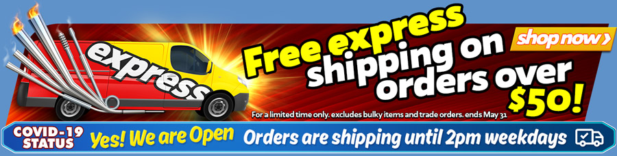 All Orders Ship Express + Orders over $50 Ship FREE this month!!
