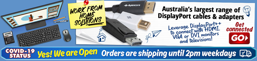 Australia's Largest Range of DisplayPort Cables and Adapters, right here!
