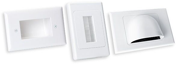 Bullnose Wallplates & Brush-Entry Wall Plates