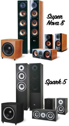 Pure Acoustics Spark 5 & Super Nova 8